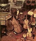 Jan the elder Brueghel The Sense of Hearing [detail 1] painting